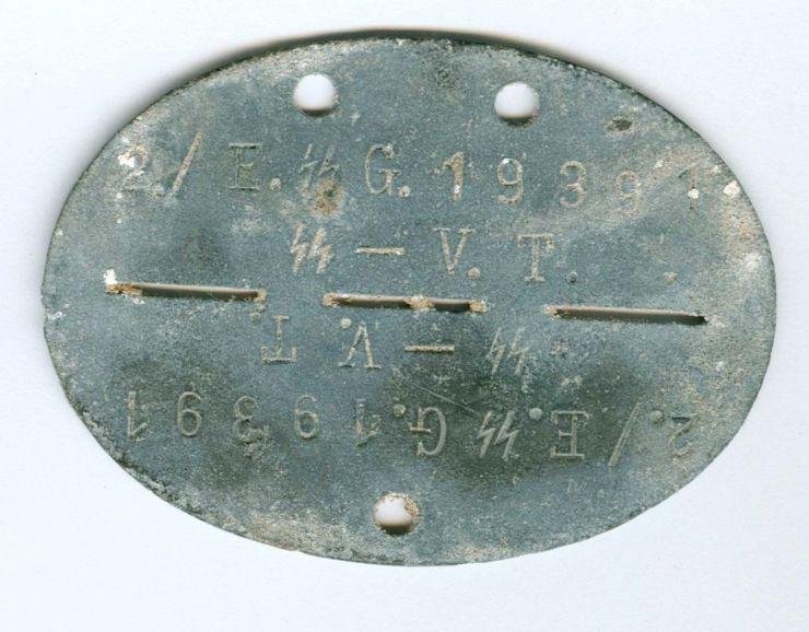 """SS-VT/ Chapa de Identificación """"2/ E. SS G. 19391 SS VT"""""""